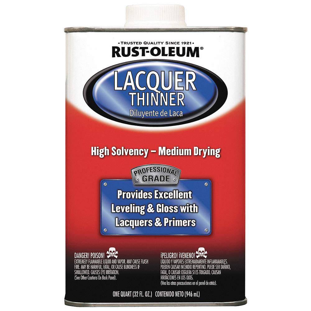 RUST-OLEUM Lacquer Thinner, 1 qt , Brush, Roll, Cloth, VOC