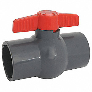 Ball Valve,Inline,Socket,1-1/4""