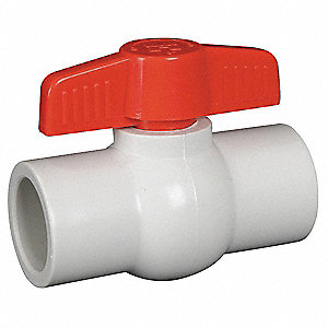 BALL VALVE,1 PC,1 IN,PVC,SOCKET