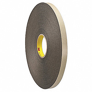 Double Coated Tape,1 In x 72 yd.,Black