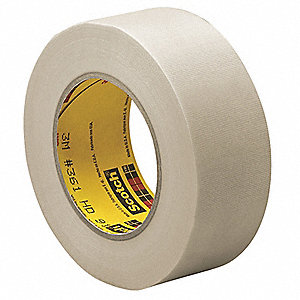 Cloth Tape,1/2 In x 60 yd,6.4 mil,White