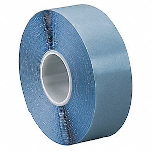 "Rubber Double Sided Tape, Hot Melt Resin Adhesive, 16.00 mil Thick, 1/2"" X 49 ft., Clear"