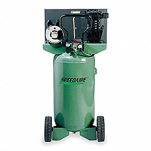 2.0 HP, 115/230VAC, 26 gal. Portable Electric Barrel Air Compressor, 135 psi