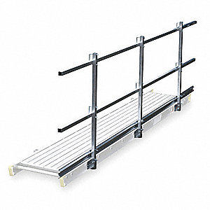 Guard Rail and Toe Board System, 20 ft. Overall Length