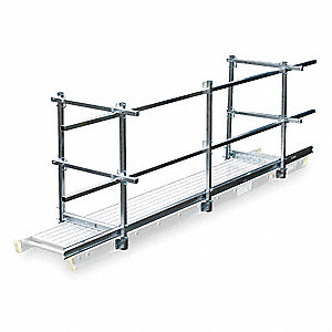 "Guard Rail and Toe Board System, 12"" Overall Width, 24 ft. Overall Length"