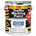 Yellow Traffic Zone Marking Paint, Chlorinated Solvent Base Type, 1 gal.