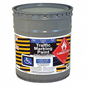 Alkyd Solvent-Base Traffic Zone Marking Paint, Blue, 18.9L
