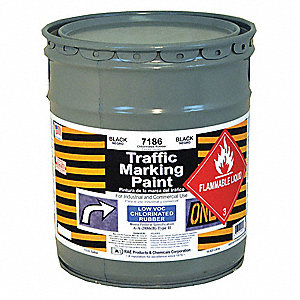 Chlorinated Solvent-Base Traffic Zone Marking Paint, Black, 18.9L