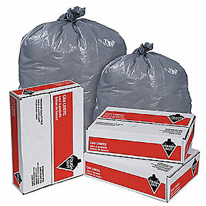 LINER,20 TO 30 GAL.,GRY,PK100