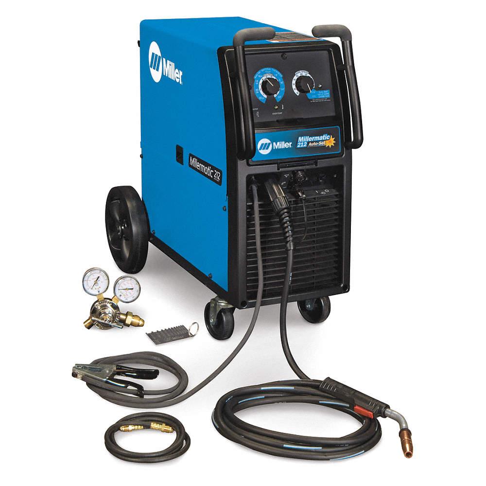 MILLER ELECTRIC MIG Welder, Millermatic 212 Series, Input Voltage ...