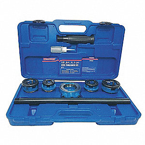 Manual Pipe Threading Kit,1/2 to 1-1/4In
