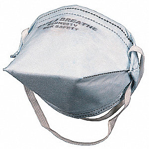 N95 Flat Fold Antimicrobial Disposable Respirator, White, Universal, 10PK