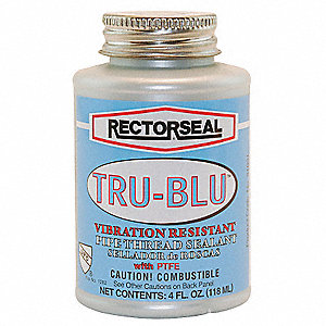 Thread Sealant with PTFE,4 oz.,Blue