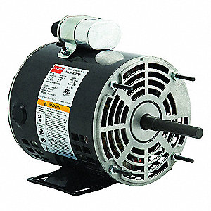 1/4 HP Direct Drive Blower Motor, Permanent Split Capacitor, 1725 Nameplate RPM, 115 Voltage