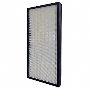 12x24x2, MERV 14, 100% Synthetic Media, Minipleat Air Filter Without Gasket, Plastic Frame