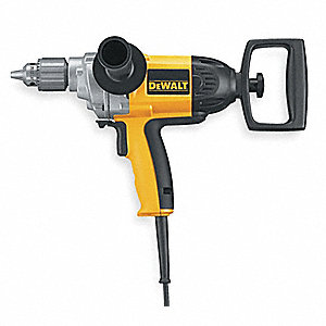 "1/2"" Electric Drill, 9.0 Amps, Spade Handle Style, 0 to 550 No Load RPM, 120VAC"