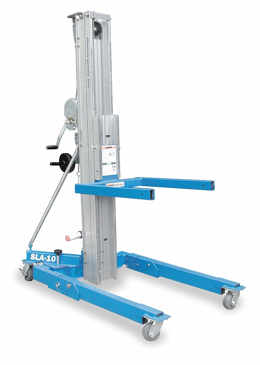 General Purpose Manual Material Lift,  1,000 lb Load Capacity,  Platform Length 27 in