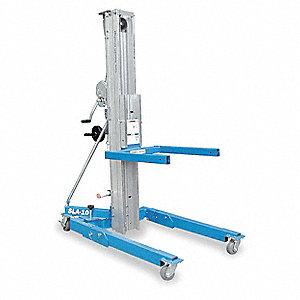 Genie manual lift, manual push equipment lift, 800 lb. Load.