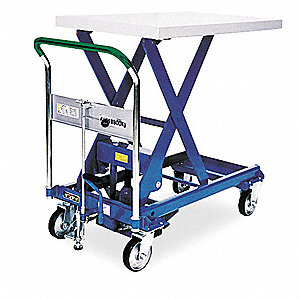 Scissor Lift Cart,1760 lb.,Steel,Fixed