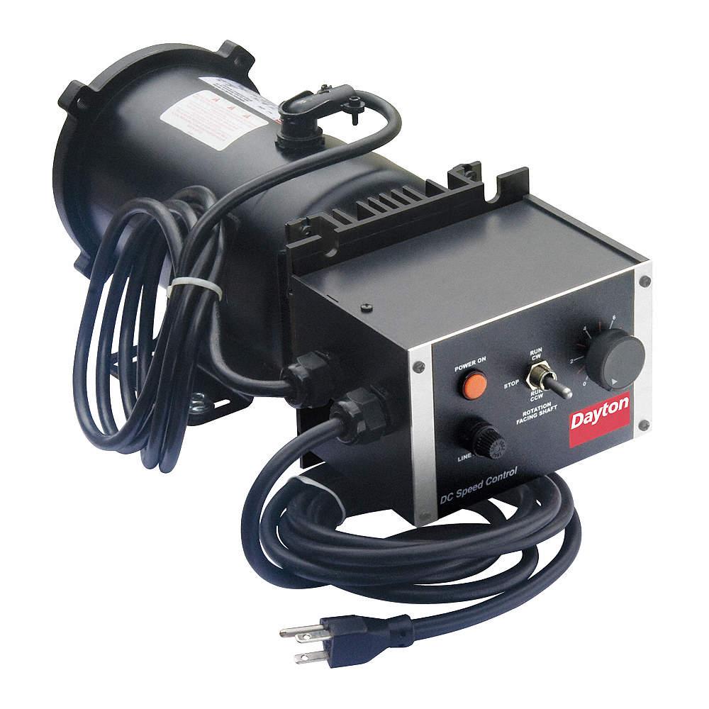 DAYTON 1/4 HP Adjustable Speed Motor,1750 Nameplate RPM,90 Voltage ...