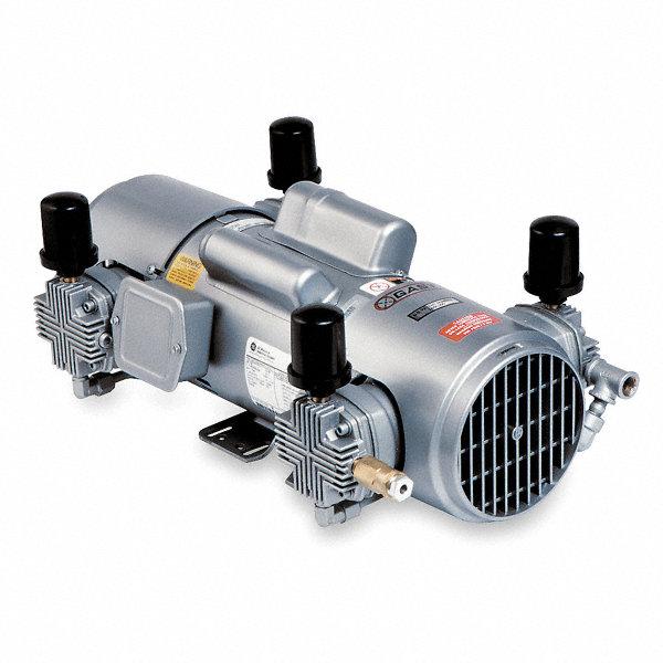 Gast 1 1 2 hp piston air compressor 115 208 230vac 100 for Gast air motor distributors