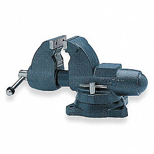 "5"" Ductile Iron Combination Vise, 5-5/16"" Throat Depth"