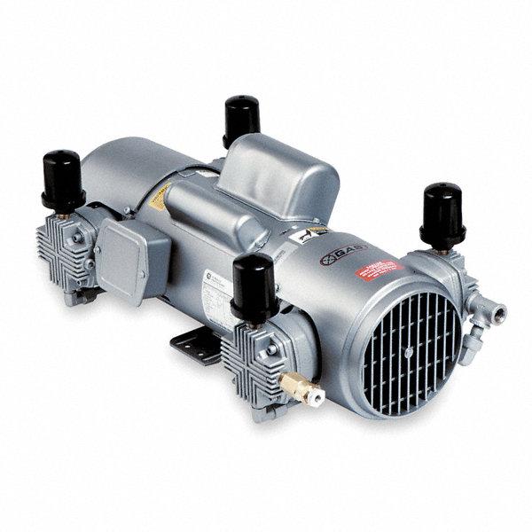 Gast 2 hp piston air compressor 115 230vac 100 100 max for Gast air motor distributors