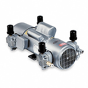 "8-1/2"" x 21-1/2"" x 12-1/4"" 115/230VAC Piston Air Compressor"