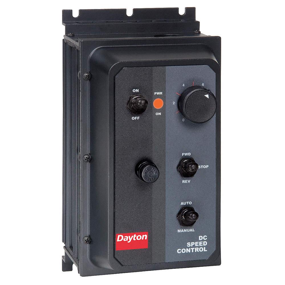 DAYTON DC Speed Control,NEMA 4/12,100/200VDC Shunt Wound Volts,0 to ...