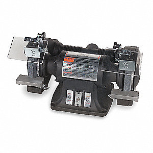 "3/4 HP Bench Grinder, 220/440 Voltage, 3 Phase, 2.2/1.1 Amps, 8"" Wheel Dia."