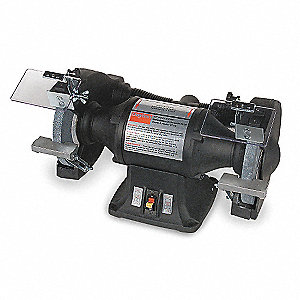 Heavy Duty Bench Grinder, 115/230V, 1 HP, 1725 Max. RPM