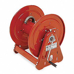 175 ft. Heavy Duty, Hand Crank, Air/Water Hose Reel, Red
