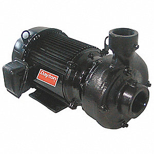 5 HP Centrifugal Pump, 3 Phase, 208-230/460 Voltage, Cast Iron Housing Material