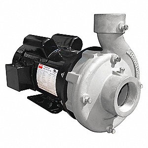 3 HP Centrifugal Pump, 1 Phase, 230 Voltage, Stainless Steel Housing Material