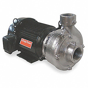 15 HP Centrifugal Pump, 3 Phase, 230/460 Voltage, Stainless Steel Housing Material