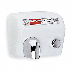 Cast Iron, Fixed Nozzle Push Button Hand Dryer, Industrial Hiigh Output Voltage