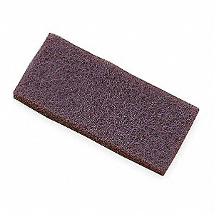 "Brown Replacement Stripping Pad, Length 9"", Width 4"", 5 PK"
