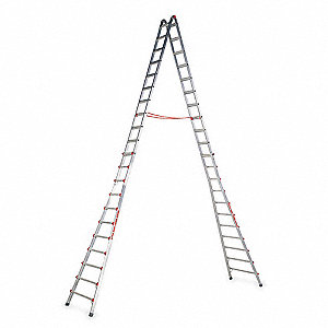11 to 21 ft. 300 lb. Load Capacity Aluminum Telescoping Step Ladder