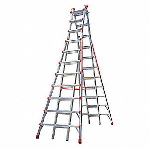 11 to 21 ft. 300 lb. Load Capacity Aluminum Stepladder