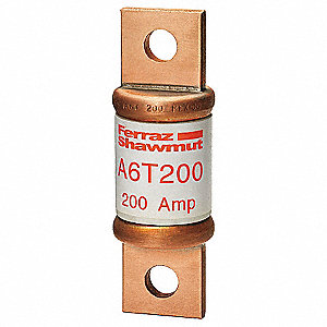 200A Very Fast Acting Glass/Melamine Fuse with 600VAC/300VDC Voltage Rating&#x3b; A6T Series