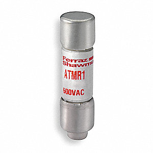 Fast Acting, Cylindrical, Fuse, ATMR Series, 600VAC/DC, Nonindicating