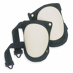 Swivel 2-Strap Knee Pads, Black/White