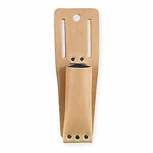 "Utility Knife Sheath, Tan Top Grain Leather, 9-5/8"" Height, 3-1/4"" Width"