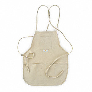 Apron,4 Pocket Bib,Off-White