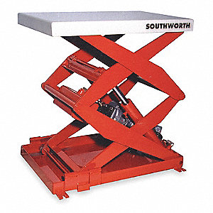 Scissor Lift Table,500 lb.,115V,1 Phase