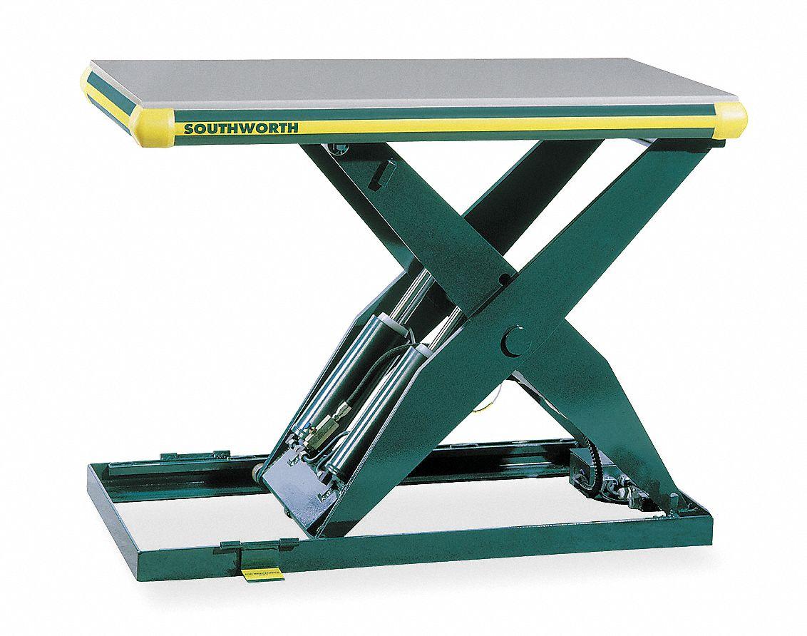 Southworth Stationary Scissor Lift Table 2 000 Lb Load Capacity 41 1 4 In Lifting Height Max 4zc12 Ll2 0 32 5 48x48 Fs Grainger