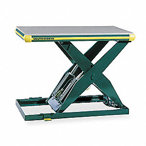 Stationary Electric Lift Scissor Lift Table, 2000 lb. Load Capacity, Lifting Height Max. 41-1/4""