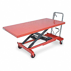 "63""L x 31-1/2""W Fixed Steel Scissor Lift Cart, 1000 lb. Load Capacity"