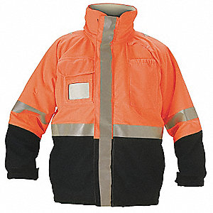 Flame-Resistant Jacket,Orange/Navy,M