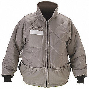 Flame-Resist Jacket Liner,Gray,S,HRC 4